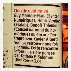Club des Gentlemen dans Le Point