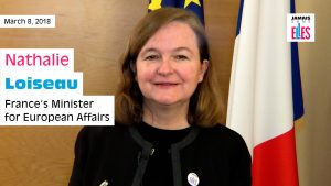 8 March – French diplomatic corps joins forces with #JamaisSansElles