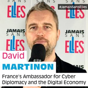 David Martinon : first ambassador signatory of #JamaisSansElles
